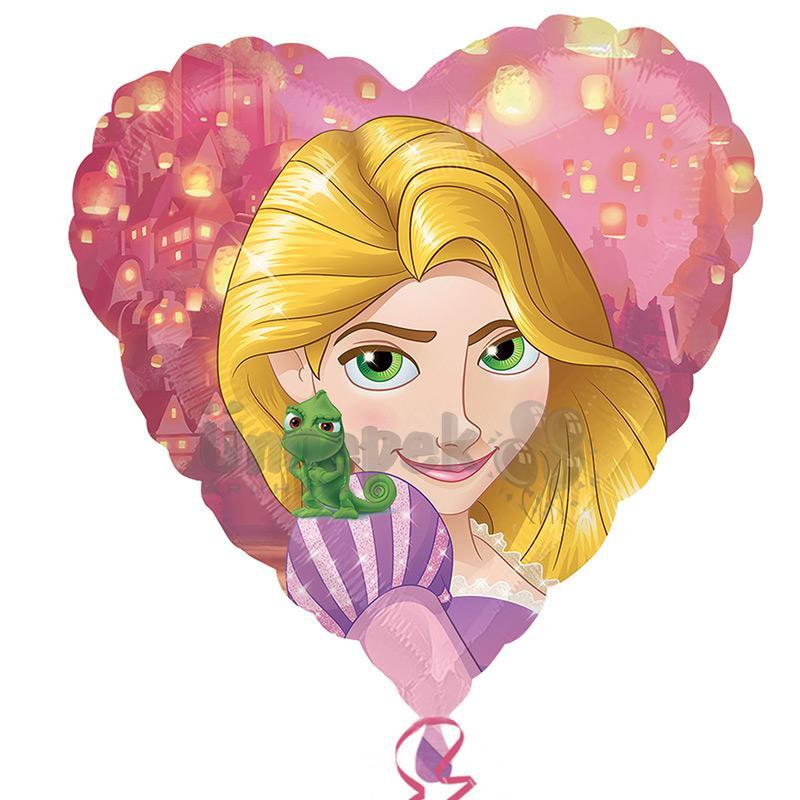 17 inch-es Rapunzel - Aranyhaj Heart Szív Fólia Lufi