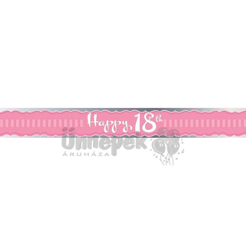 18 szülinapi party 18. Szülinapi Vállszalag | Party Kellékek Webshop 18 szülinapi party