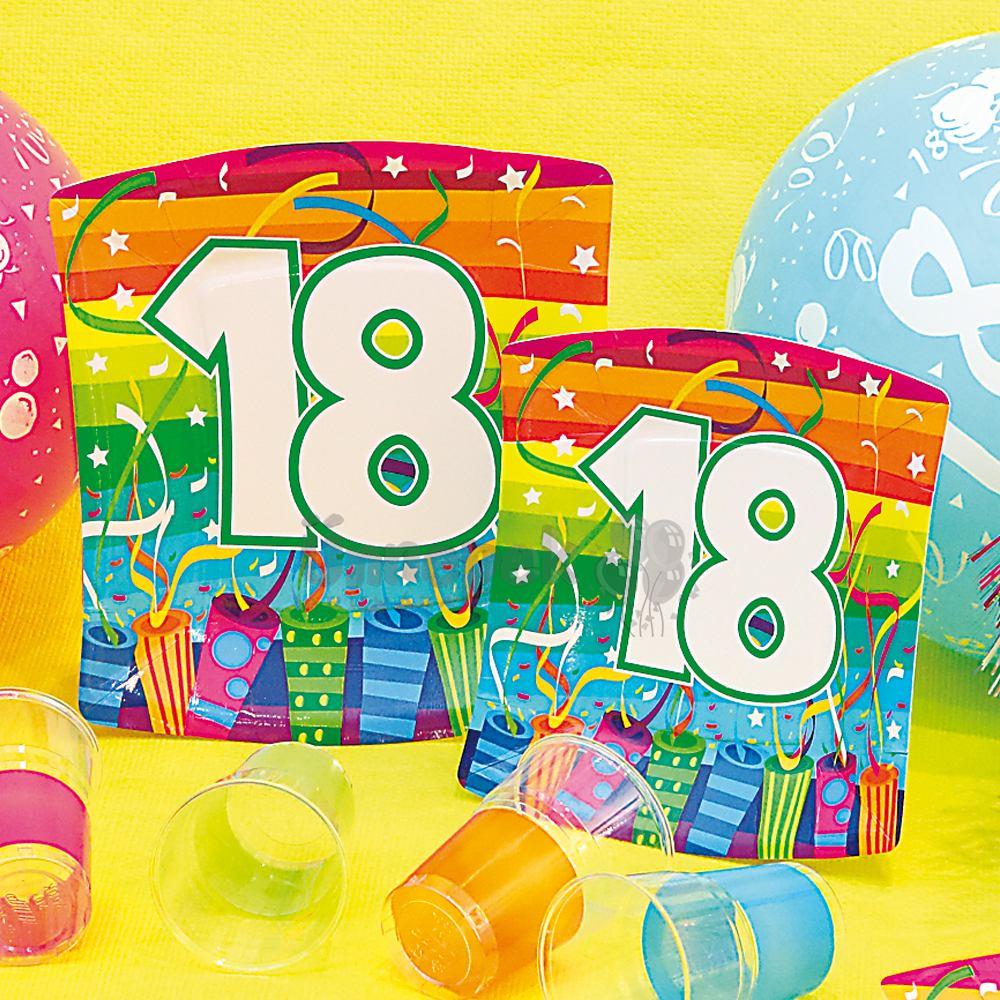 18-as Számos Boom Papír Parti Tányér - 10 db-os, 24 cm
