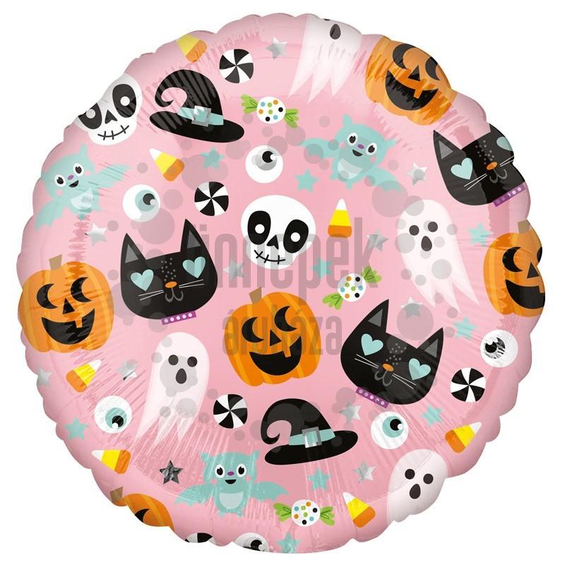 18 inch-es Halloween Figurák - Halloween Icons Fólia Lufi Halloween-ra