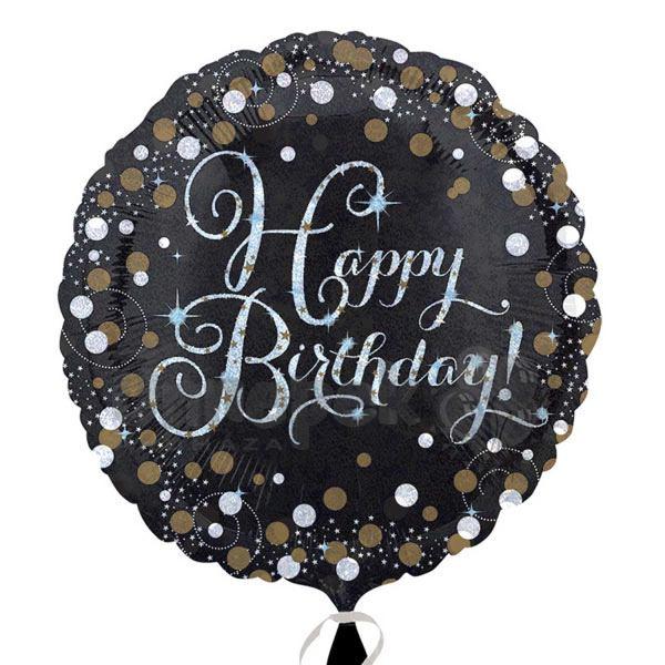 18 inch-es Happy Birthday Sparkling Születésnapi Héliumos Fólia Lufi