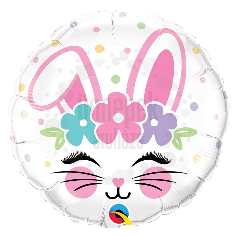 18 inch-es Nyuszi Arc - Bunny Face Húsvéti Fólia Lufi