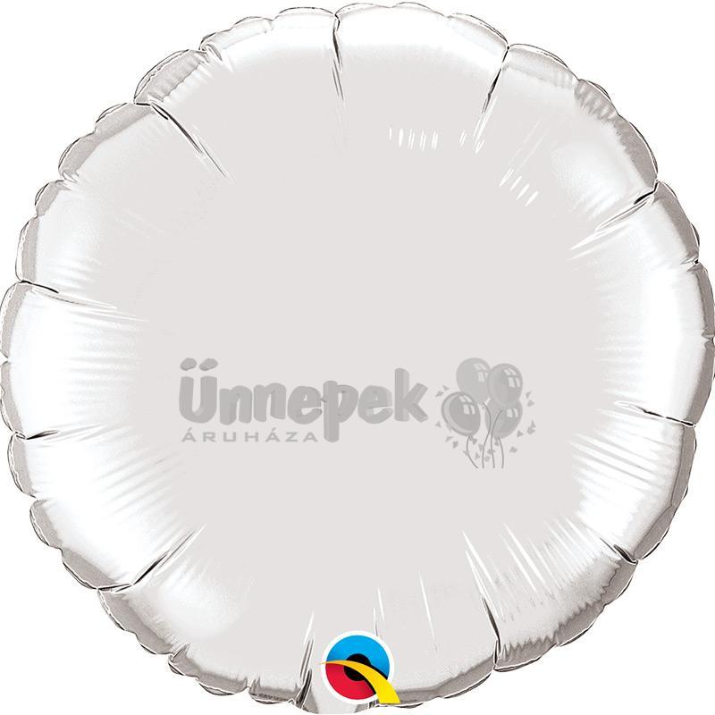 18 inch-es Silver - Ezüst Kerek Fólia Lufi