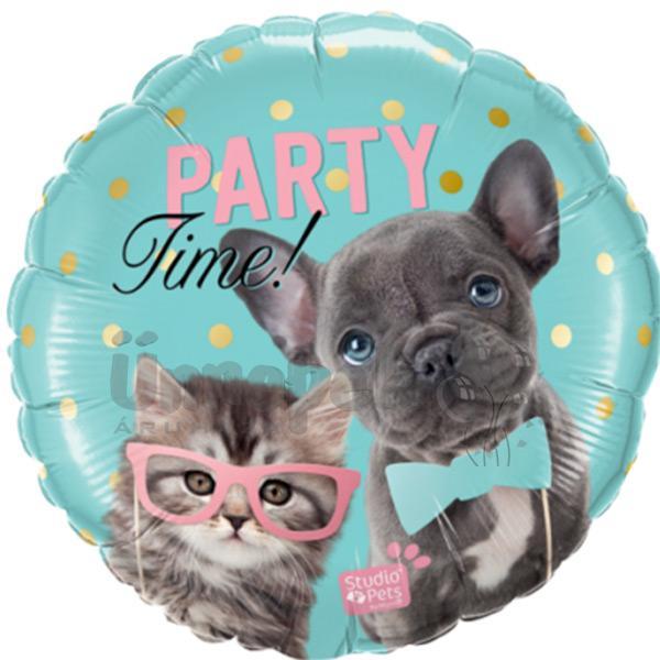 18 inch-es Studio Pets - Party Time Pets Fólia Lufi