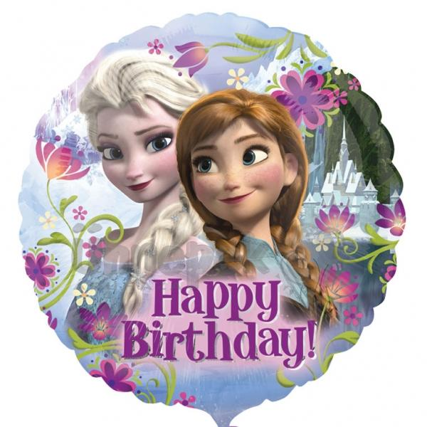 18 inch-es Happy Birthday Jégvarázs - Disney Frozen - Szülinapi Héliumos Fólia Lufi