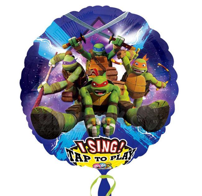 28 inch-es Teenage Mutant Ninja Turtles - Tini Nindzsa Teknősők Éneklő Szülinapi Héli