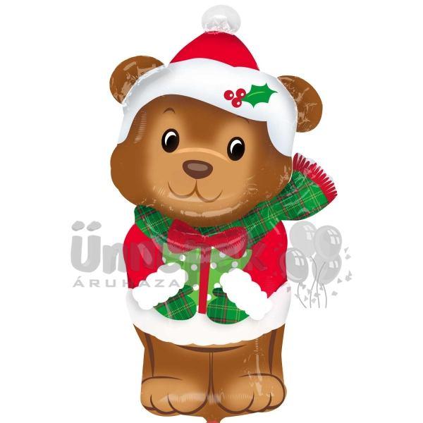 29 inch-es Karácsonyi Maci - Christmas Bear Fólia Lufi