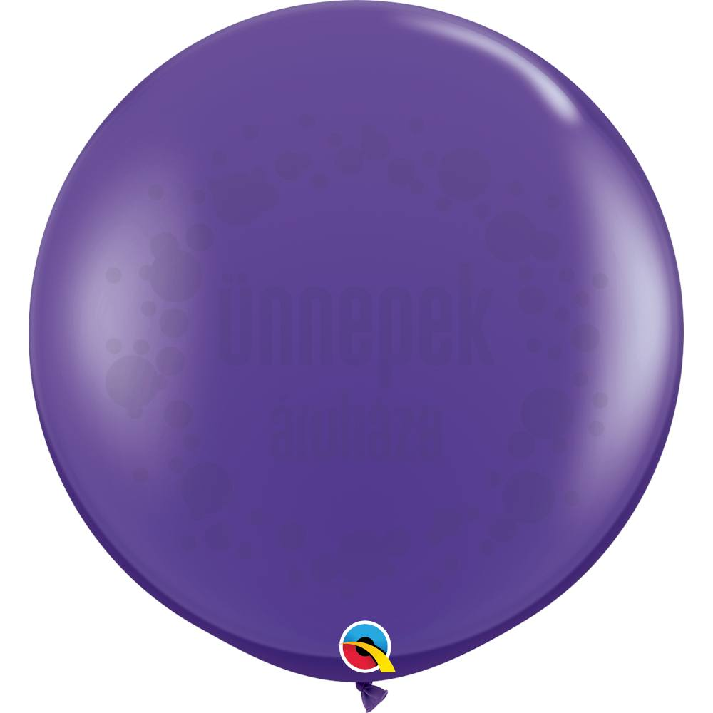 3 feet-es Purple Violet (Fashion) Kerek Latex Lufi (2 db/csomag)