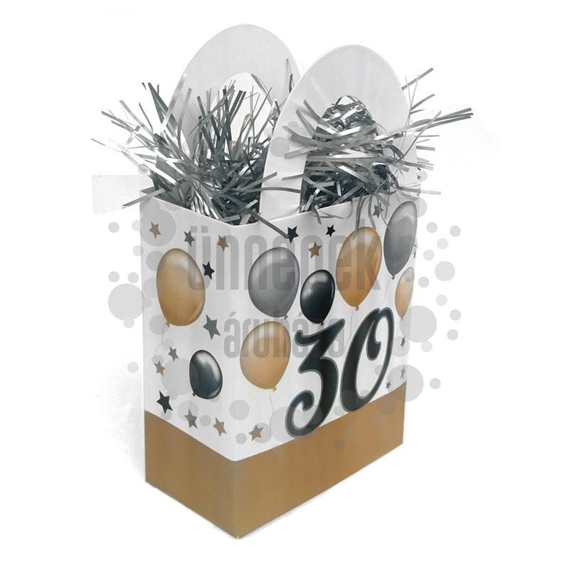 30-as Elegáns Léggömbös Szülinapi Ajándéktasak Léggömbsúly - 120 gramm