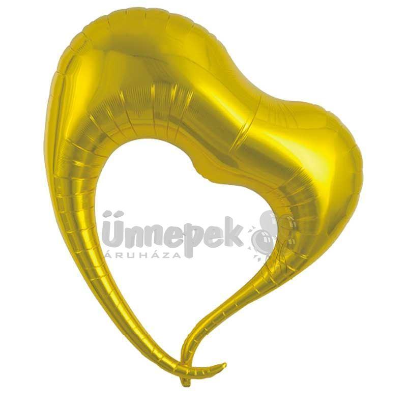 Ibrex 30 inch-es Elegant Metallic Gold Szív Héliumos Fólia Lufi