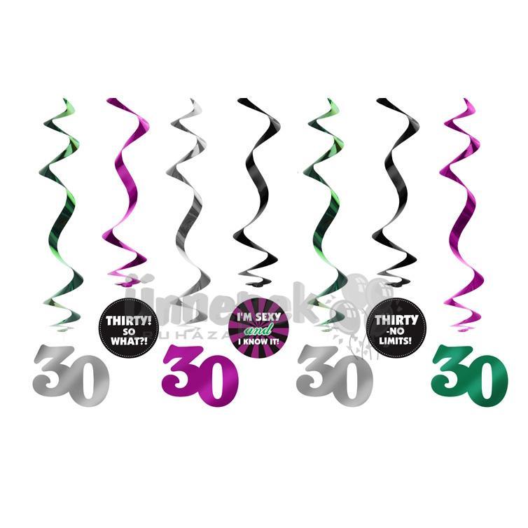 születésnapi dekorációs kellékek 30 as Szülinapi Spirális Dekoráció   Party Kellékek Webshop születésnapi dekorációs kellékek