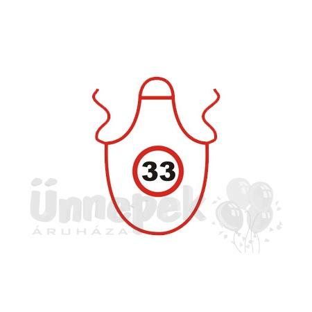 f3075ffcda Üvegkötény 33. Szülinapra | Party Kellékek Webshop