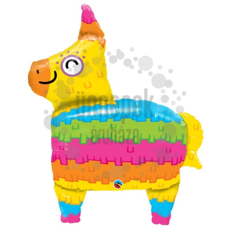 34 inch-es Láma - Rainbow Llama Pinata Fólia Lufi