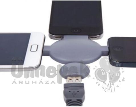 3in1 Töltő Átalakító USB