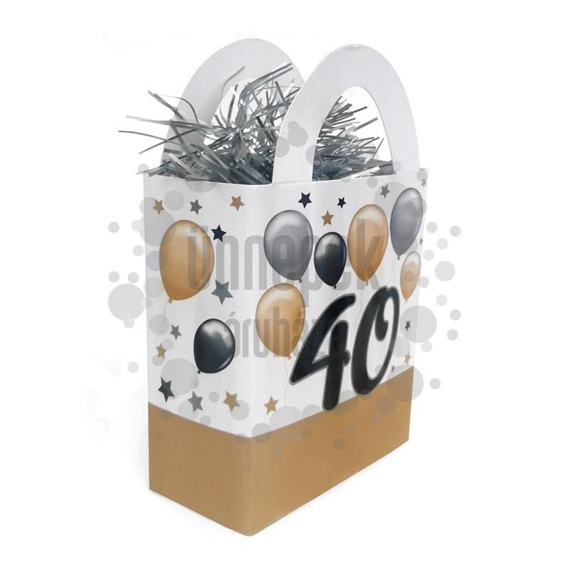 40-es Elegáns Léggömbös Szülinapi Ajándéktasak Léggömbsúly - 120 gramm