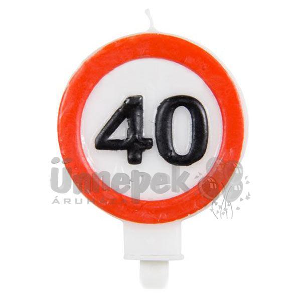 40-es Sebességkorlátozó Gyertya