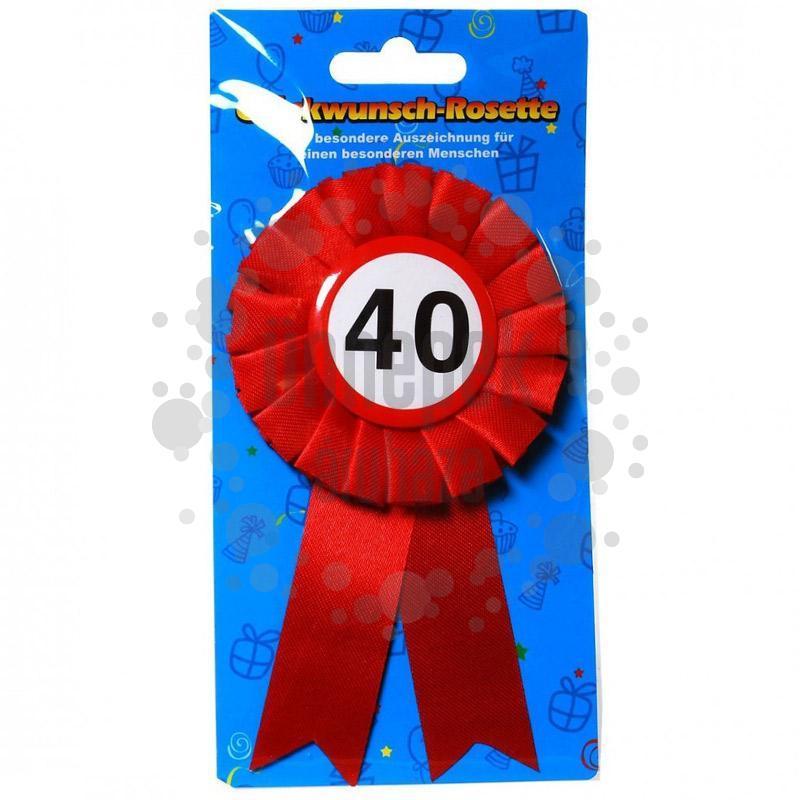 40-es Sebességkorlátozós Szalagos Szülinapi Kitűző