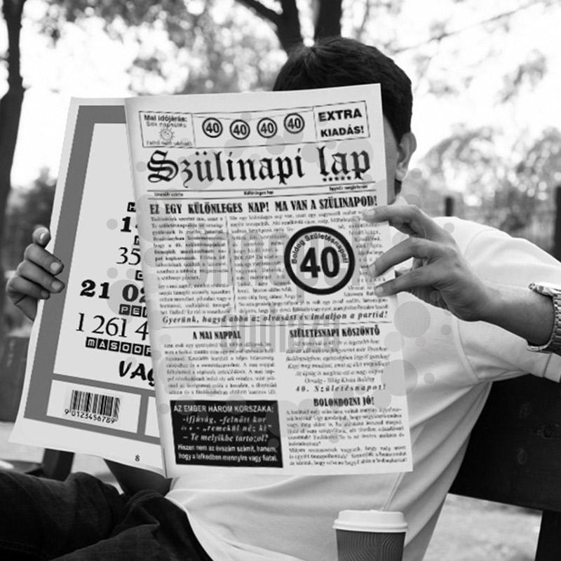 40-es Számos Születésnapi Vicces Újság