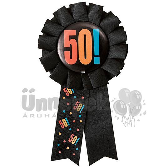 50-es Birthday Cheer Szülinapi Parti Kitűző