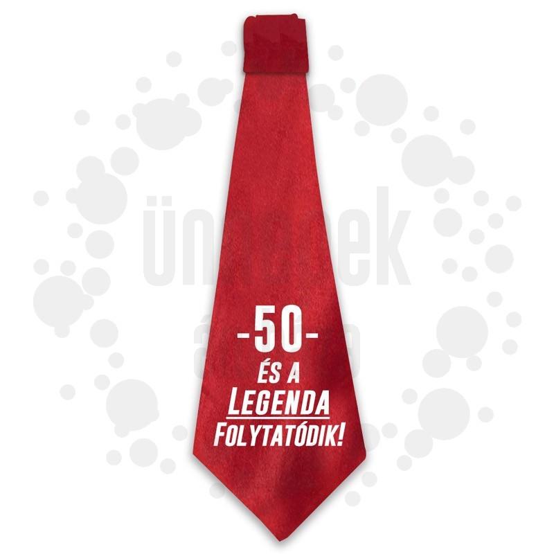 50 és a Legenda Folytatódik! Születésnapi Számos Nyakkendő