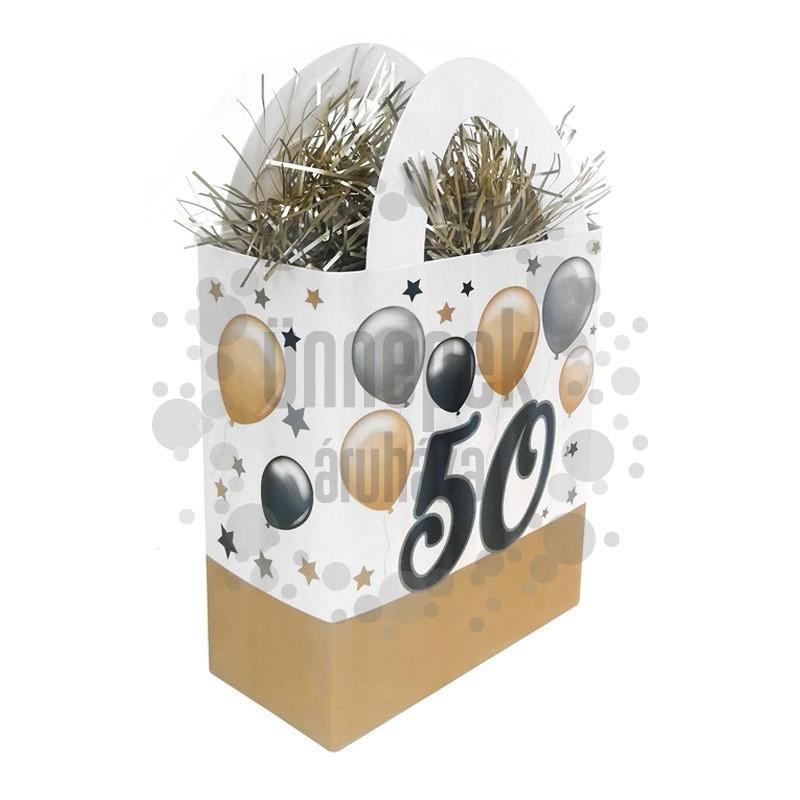 50-es Elegáns Léggömbös Szülinapi Ajándéktasak Léggömbsúly - 120 gramm