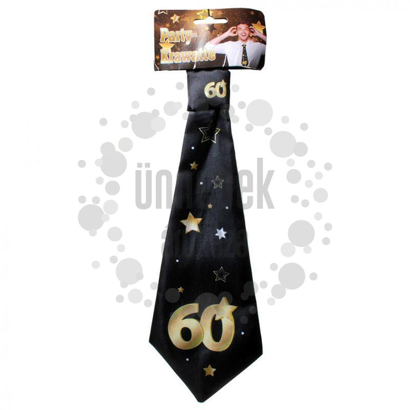 60-as Arany Fekete Csillagos Szülinapi Nyakkendő