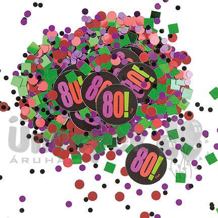 80-as Birthday Cheer Szülinapi Parti Konfetti