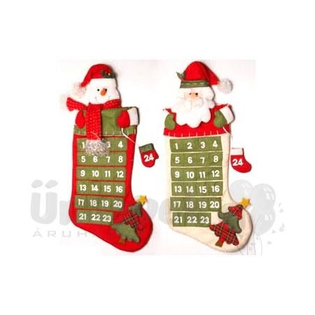 adventi naptár vásárlás Csizma Alakú Mikulásos/Hóemberes Adventi Naptár adventi naptár vásárlás
