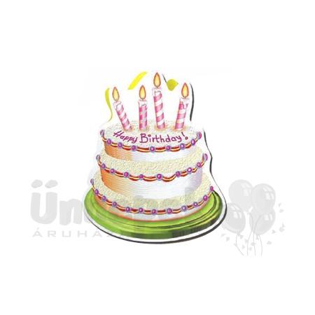 Torta Formájú Happy Birthday Feliratú Születésnapi Ajándéktasak