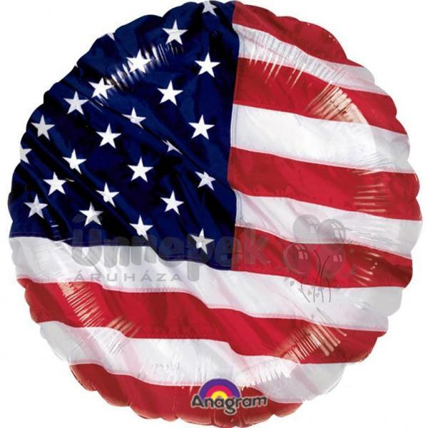 18 inch-es Amerikai Zászló - Usa Flag Fólia Lufi