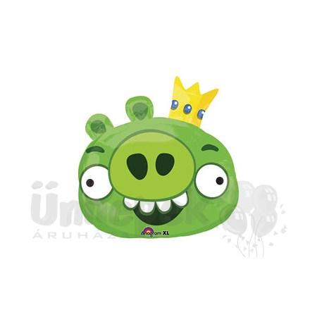 Angry Birds - Zöld Malac Super Shape Héliumos Fólia Lufi