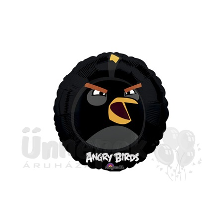 18 inch-es Angry Birds - Fekete Madár - Héliumos Fólia Lufi