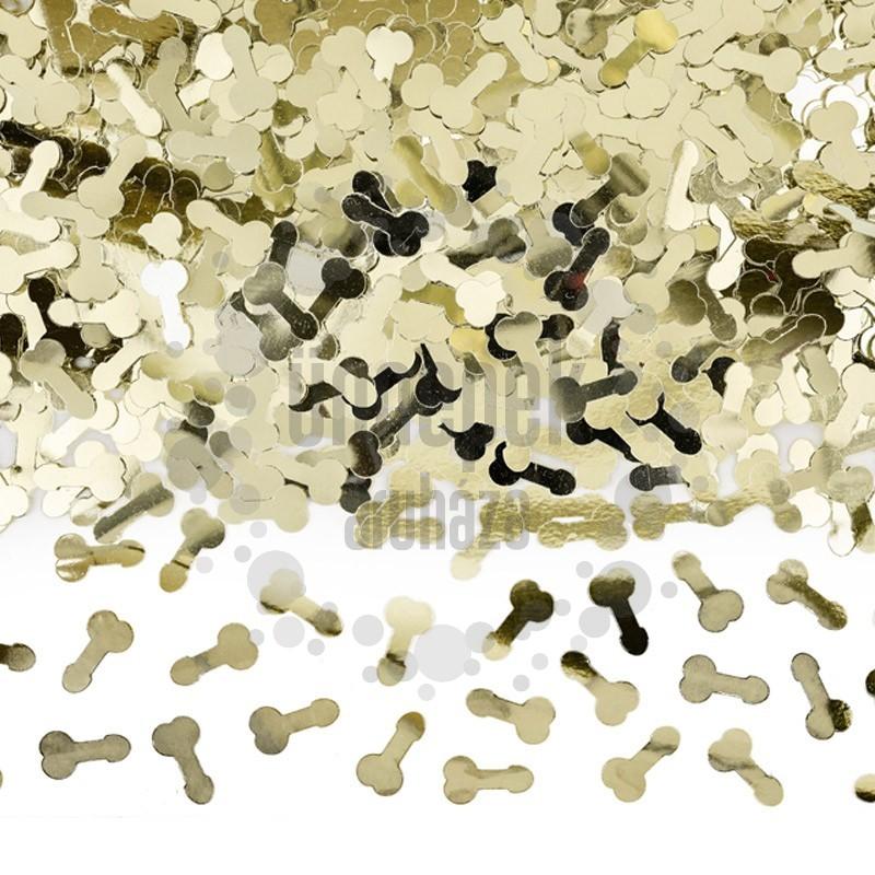 Arany Fütyi Formájú Konfetti Lánybúcsúra - 30 gramm
