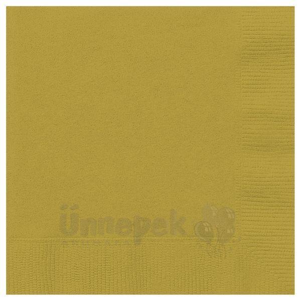Gold Papír Parti Szalvéta - 33 cm x 33 cm, 20 db-os