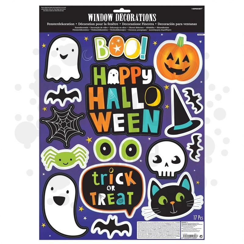 Aranyos Halloween Ikonos Ablakdekoráció