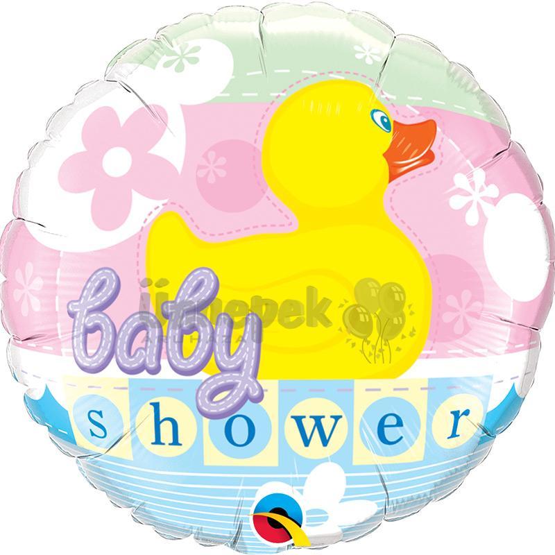 18 inch-es Gumi Kacsás - Baby Shower Duckie Héliumos Fólia Lufi Babaszületésre