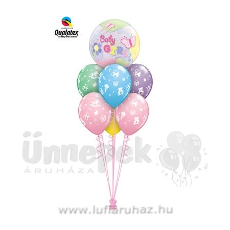 Baby Butterflies Ajándék és Léggömb-dekoráció Babaszületésre