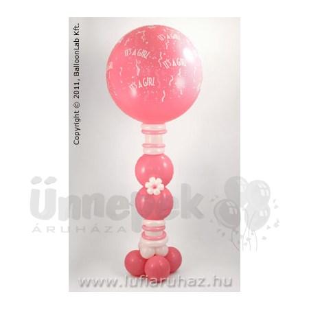 Its A Girl-A-Round with mini Flowers Lufi Dekoráció Babaszületésre