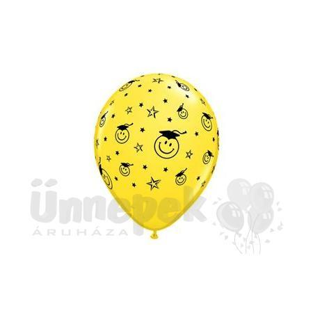 11 inch-es Smile Face Yellow Ballagási Lufi (25 db/csomag)