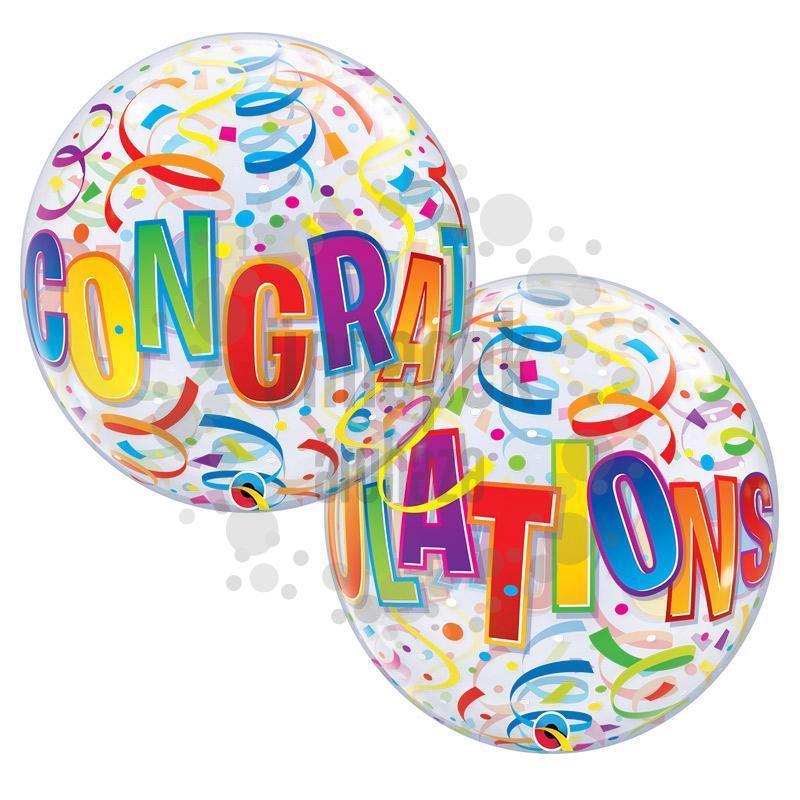 22 inch-es Congratulations Around Ballagási Bubble Lufi