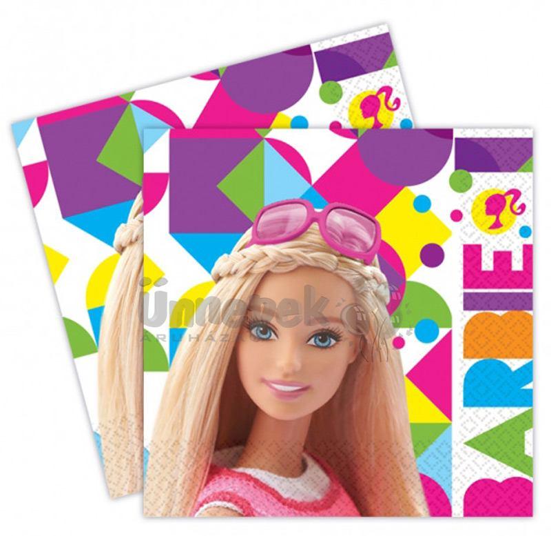 Barbie Sparkle Parti Szalvéta - 33 cm x 33 cm, 20 db-os