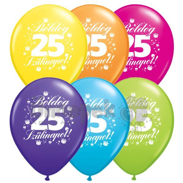 boldog 25 születésnapot képeslap Boldog 25. Szülinapot Lufi | Party Kellékek Webshop boldog 25 születésnapot képeslap