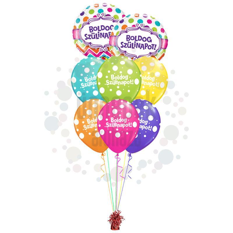 Boldog Szülinapot - Születésnapi prémium léggömbcsokor