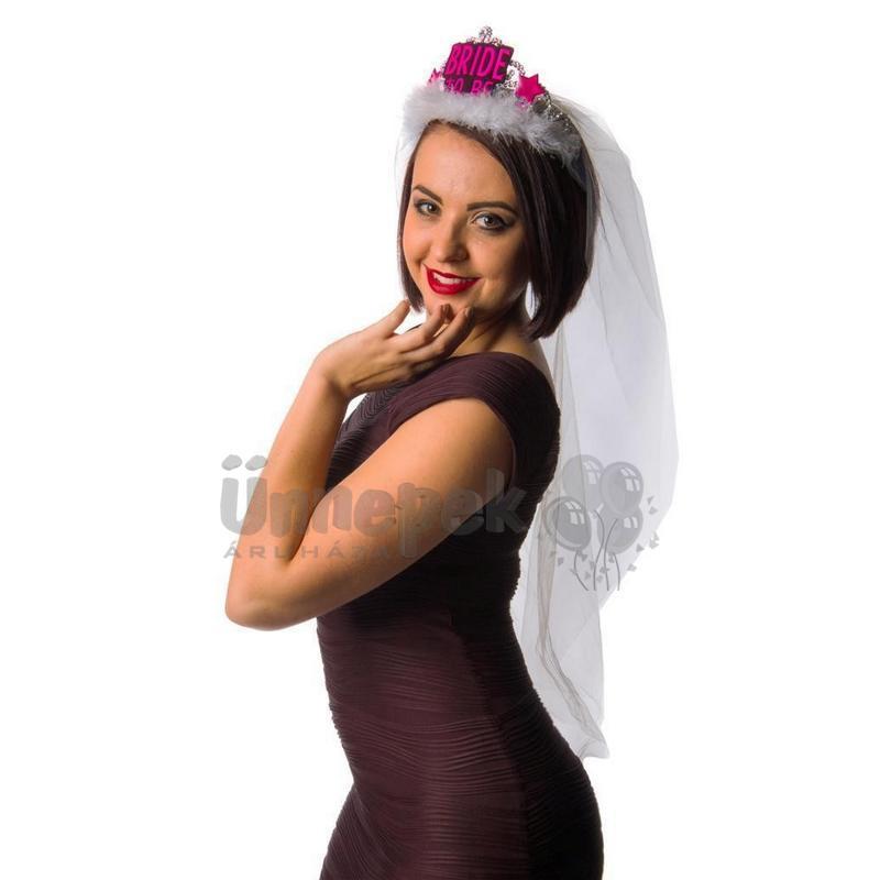 Bride to Be Hosszú Fátylas Tiara Lánybúcsúra