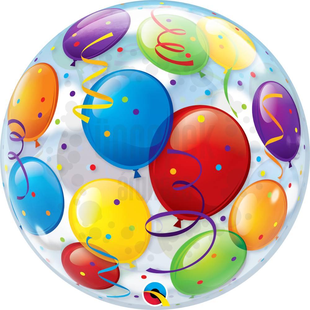 22 inch-es Léggömb Mintás - Balloons Héliumos Bubble Lufi