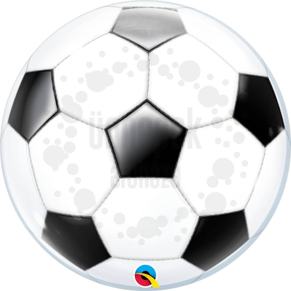 22 inch-es Foci Labda Mintás - Soccer Ball Héliumos Bubble Lufi