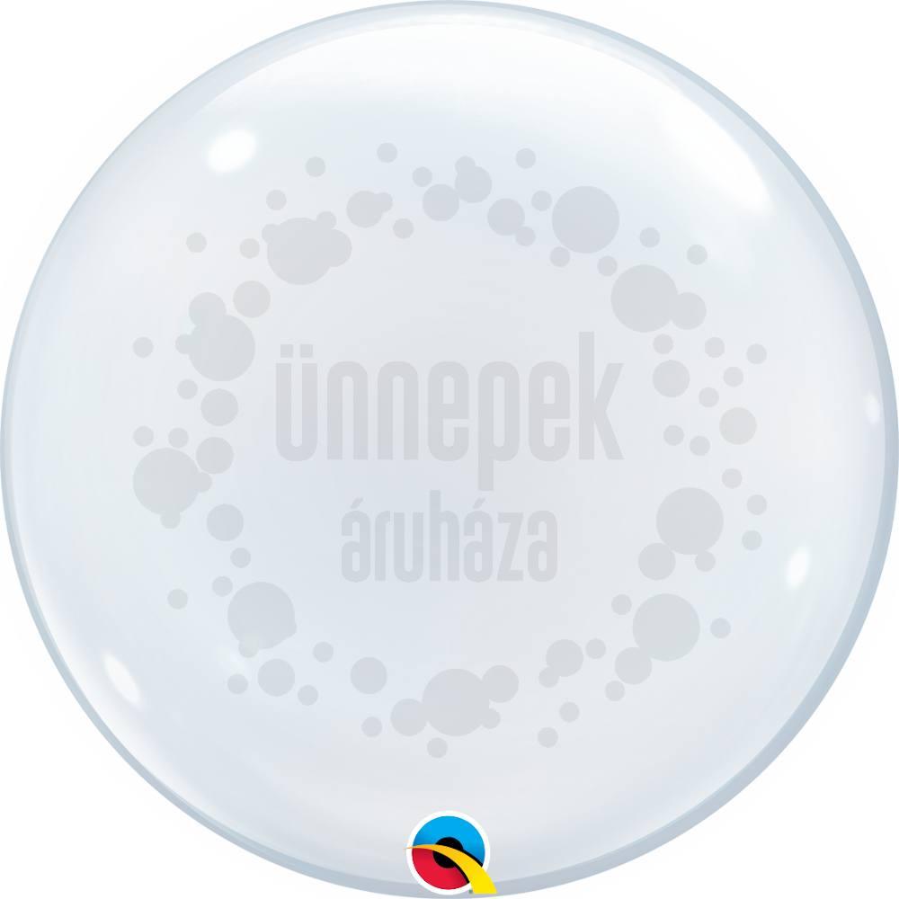 24 inch-es Clear - Átlátszó Héliumos Deco Bubble Lufi