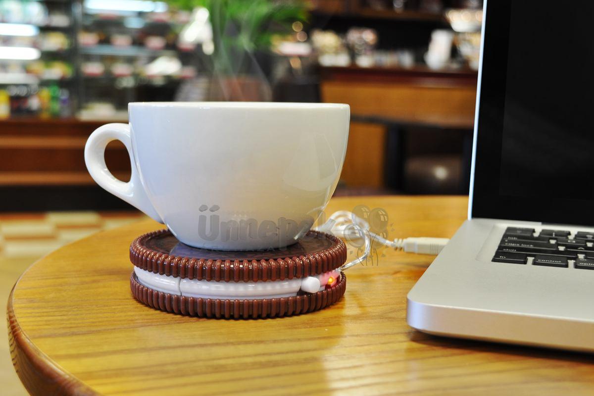Csészemelegítő USB-keksz