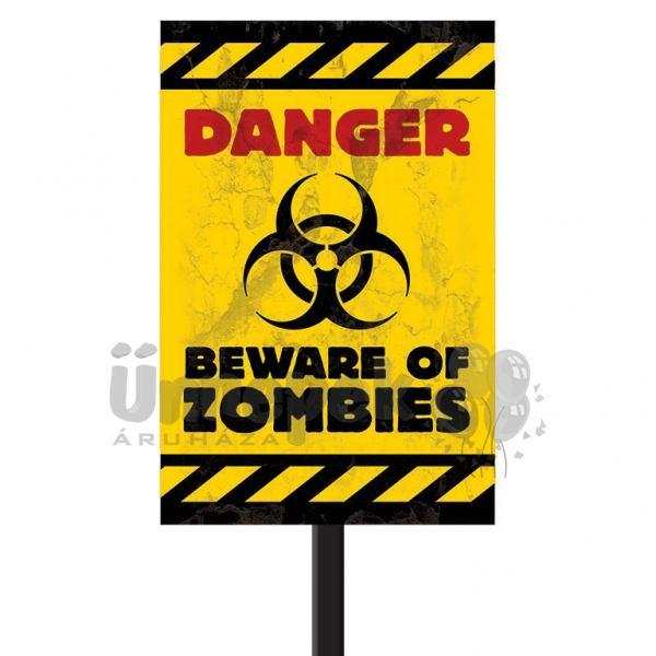 Danger - Beware of Zombies Parti Tábla Halloweenre