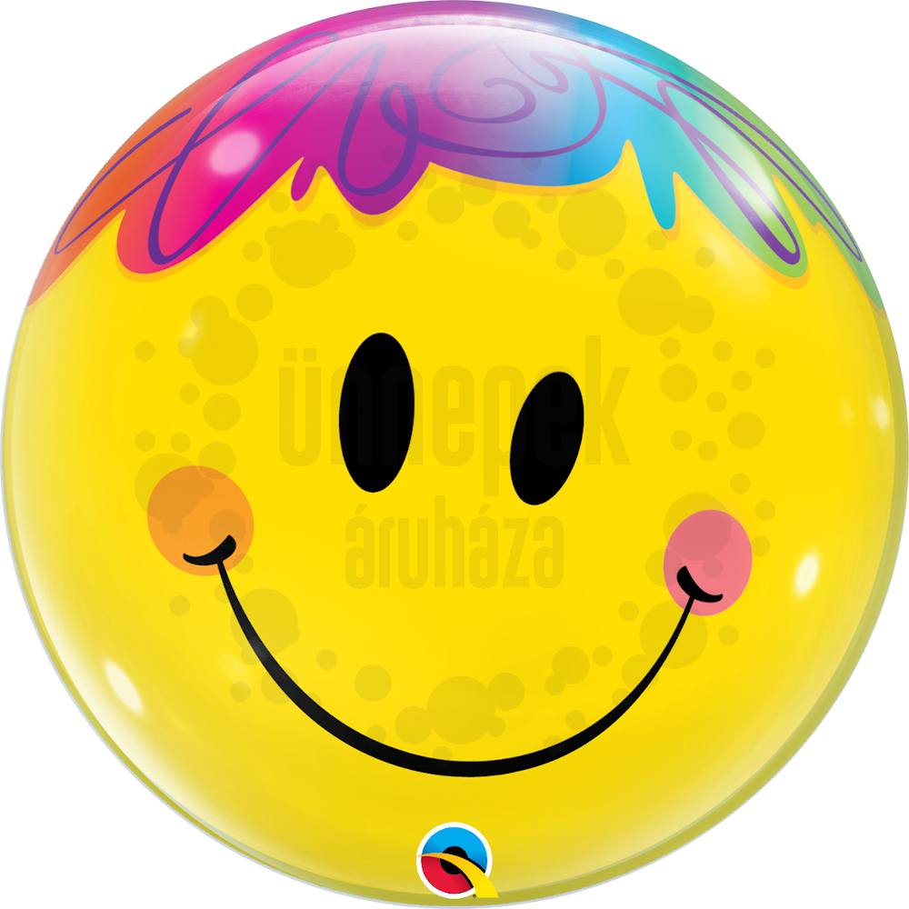 22 inch-es Mosolygó Arc - Bright Smile Face Héliumos Bubble Lufi